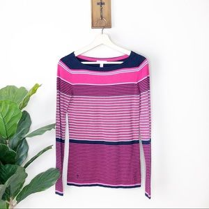 Lilly Pulitzer Pink and Navy striped sweater